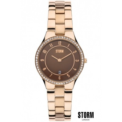 Женские наручные часы STORM  slim x crystal rose gold 08391